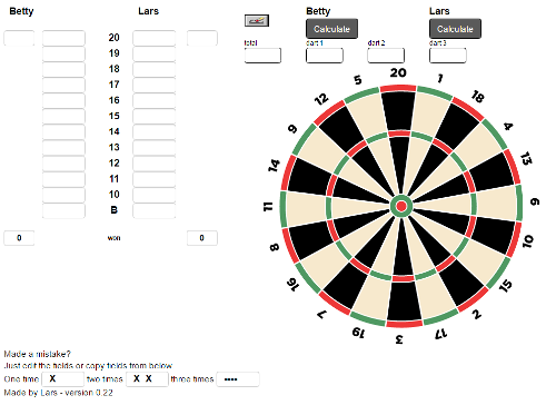 click to use the dart calculator for TacTics